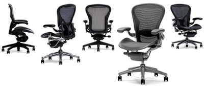Herman Miller Aeron Chairs discount prices and free delivery anywhere in the USA