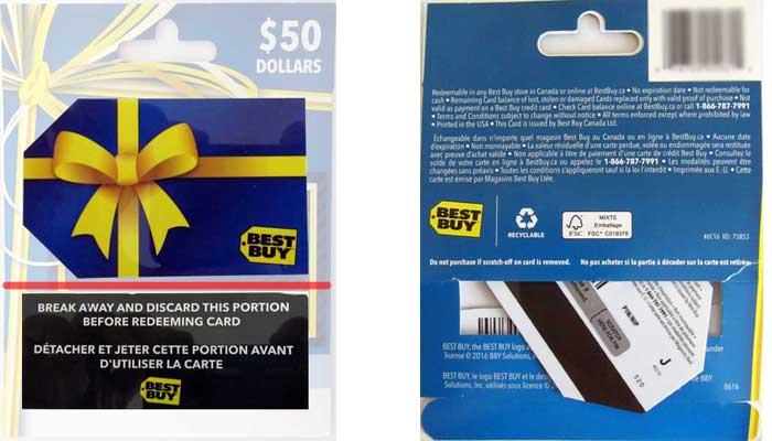 New anti-theft Best Buy Gift Card