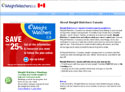 Weight Watchers Canada Online coupon and micro site